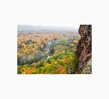 Foggy Autumn Morning at Porcupine Mountains Carp River Valley Unisex T-Shirt