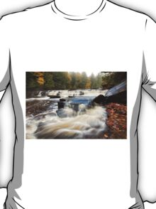 Misty Morning at Manido Falls - Upper Peninsula of Michigan T-Shirt