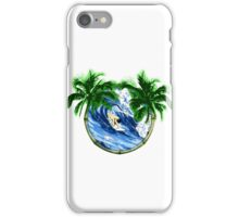 Surfer And Palm Trees iPhone Case/Skin