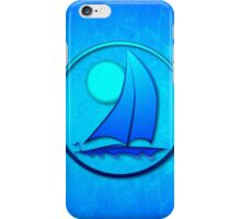 Blue Sailboat iPhone Case/Skin