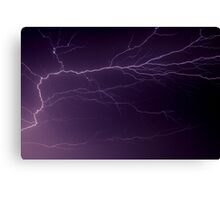 Intense Lightning Bolt Branches and Forks Canvas Print