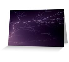 Intense Lightning Bolt Branches and Forks Greeting Card