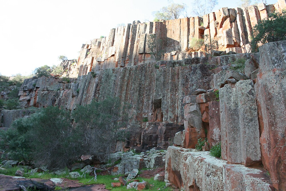 The Organ pipes, Gawler Ranges National Park.,South Australia. by elphonline