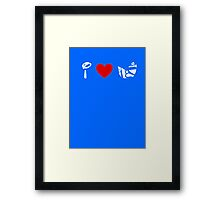 I Heart Astro Blasters (Classic Logo) (Inverted) Framed Print