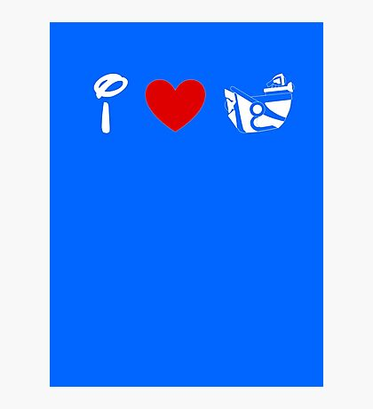 I Heart Astro Blasters (Classic Logo) (Inverted) Photographic Print