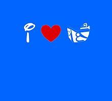 I Heart Astro Blasters (Classic Logo) (Inverted) by ShopGirl91706
