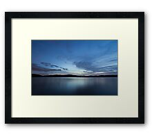 A cold night on Lake Lanier (II) Framed Print