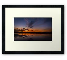 A cold night on Lake Lanier (III) Framed Print