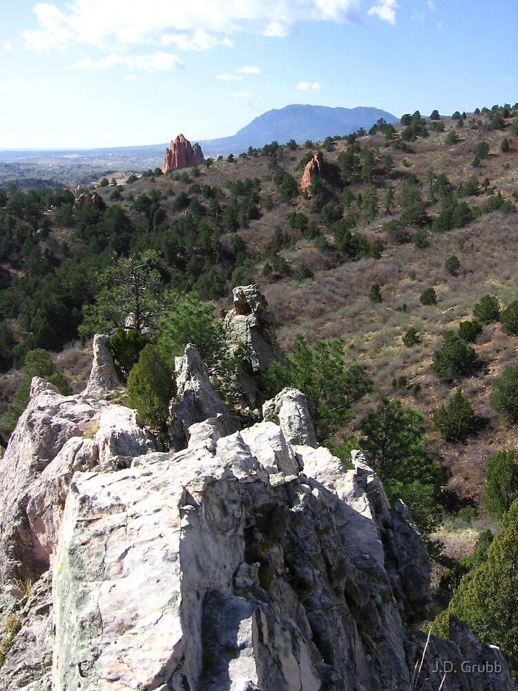 Looking toward Garden of the Gods, Glen Eyrie, Colorado Springs, CO 2008 by J.D. Grubb