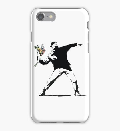 Flower man - Street art iPhone Case/Skin