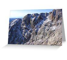Snowy Southeastern Shoulder, Pike's Peak, CO 2008 Greeting Card