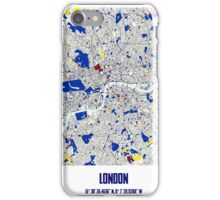 London Piet Mondrian Style City Street Map Art iPhone Case/Skin