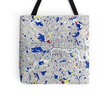 London Piet Mondrian Style City Street Map Art Tote Bag