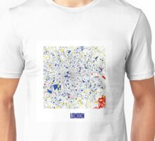 London Piet Mondrian Style City Street Map Art Unisex T-Shirt