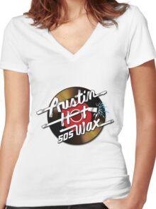Austin Hot Wax Women's Fitted V-Neck T-Shirt