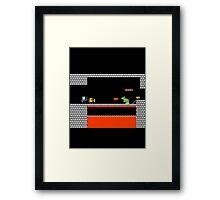BOWSER VS FINN AND JAKE Framed Print