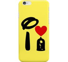 I Heart Beauty and The Beast iPhone Case/Skin
