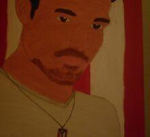 a photo of my canvas portrait of Ricky Martin by lollipopgirl