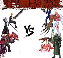 Final Fantasy VS Resident Evil by ramox90