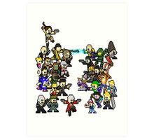 Epic 8 bit Battle! Art Print