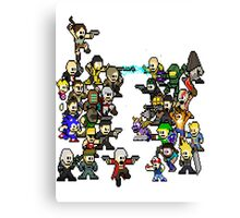 Epic 8 bit Battle! Canvas Print