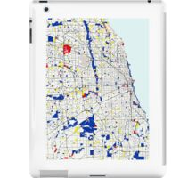 Map of Chicagoland in the style of Piet Mondrian iPad Case/Skin