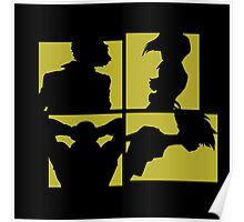 Cowboy Bebop Silhouettes (3nd color). Poster