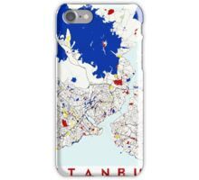 Map of Istanbul in the style of Piet Mondrian iPhone Case/Skin
