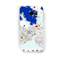 Map of Istanbul in the style of Piet Mondrian Samsung Galaxy Case/Skin