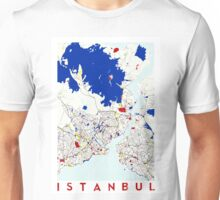 Map of Istanbul in the style of Piet Mondrian Unisex T-Shirt