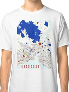 Map of Istanbul in the style of Piet Mondrian Classic T-Shirt