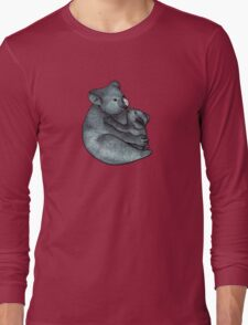 Koalas - a cute hand drawn illustration of a mother koala and her baby Long Sleeve T-Shirt