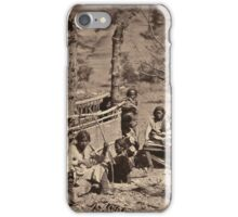 Aboriginal life among the Navajoe Indians. Near old Fort Defiance 1872 iPhone Case/Skin