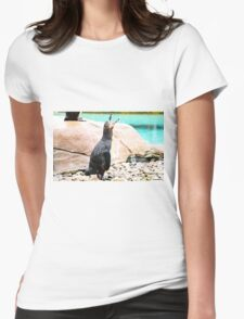 Penguin calling ! Womens Fitted T-Shirt