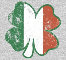 Four Leaf Clover with Irish Flag by holidayswaggs