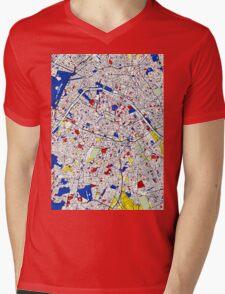 Paris - Mondrian Style Mens V-Neck T-Shirt