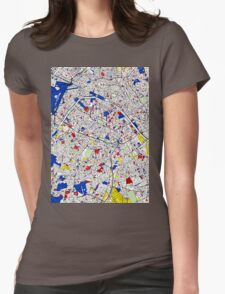 Paris - Mondrian Style Womens Fitted T-Shirt
