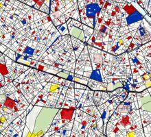 Paris - Mondrian Style Sticker