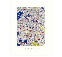 Paris - Mondrian Style Art Print
