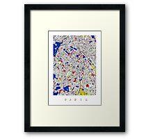 Paris - Mondrian Style Framed Print