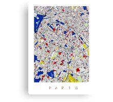 Paris - Mondrian Style Canvas Print