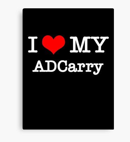I Love My ADCarry - Black  Canvas Print