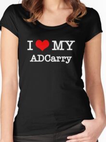 I Love My ADCarry - Black  Women's Fitted Scoop T-Shirt