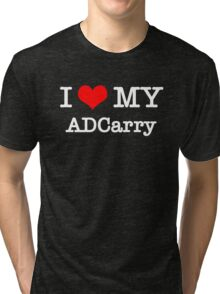 I Love My ADCarry - Black  Tri-blend T-Shirt