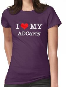 I Love My ADCarry - Black  Womens Fitted T-Shirt