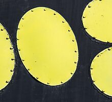 Abstract art of the space era. Yellow Ellipses by luckypixel