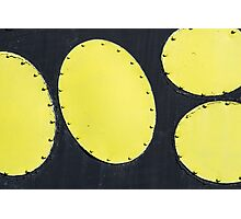 Abstract art of the space era. Yellow Ellipses Photographic Print
