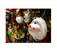 I Want The Snowman! Art Print