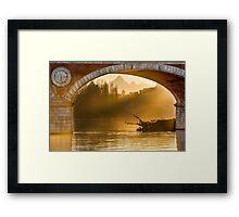 Turin (Torino), sunset on Monviso Framed Print