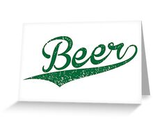 VINTAGE Beer Greeting Card